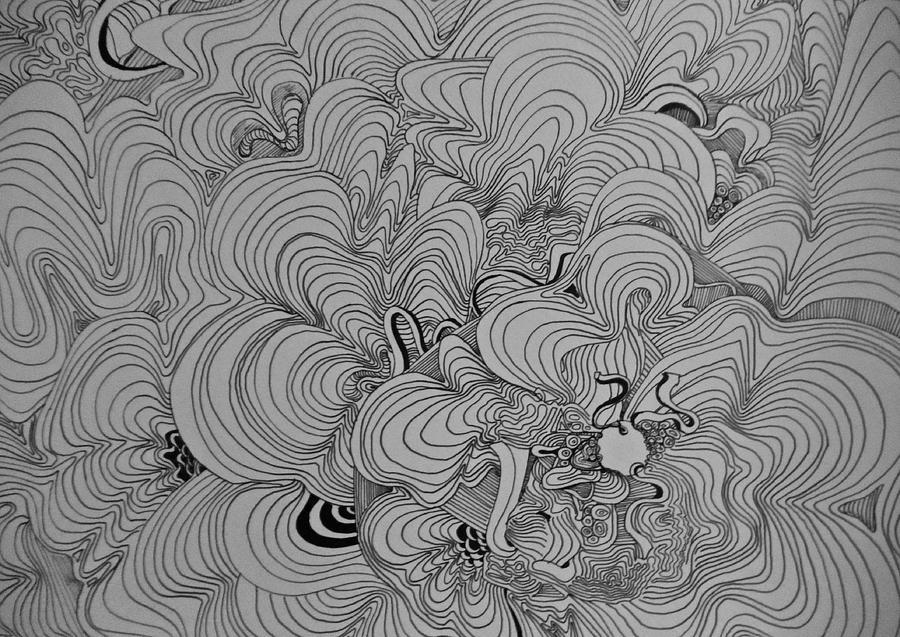 Northern Lights Drawing By Freddy Koke