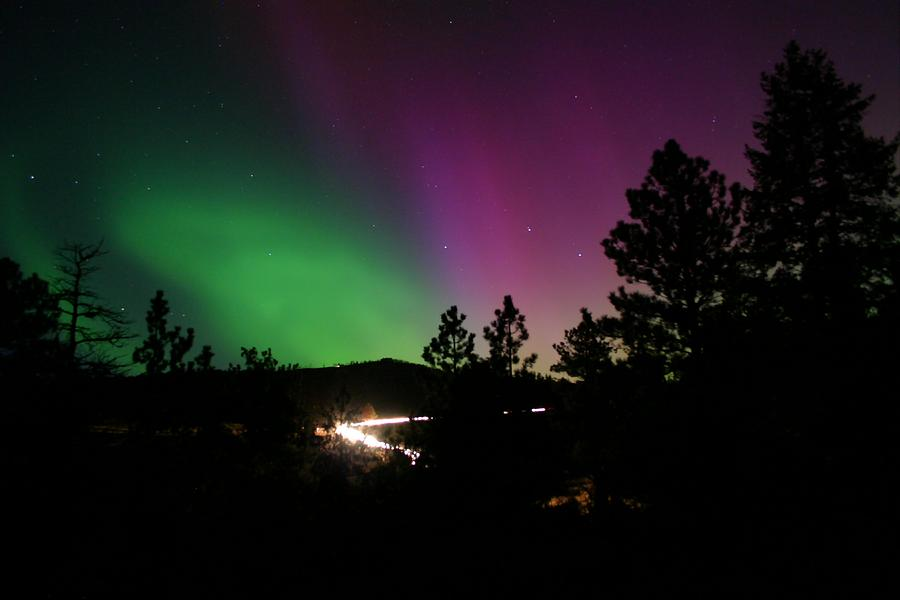 Northern Lights Photograph - Northern Lights over Storm Mountain by Perspective Imagery