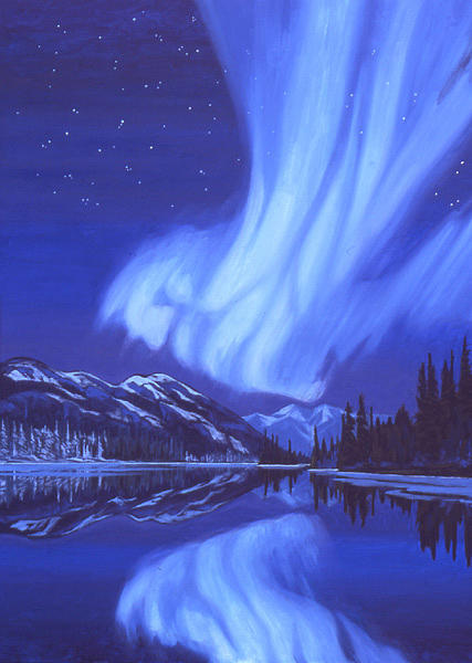Landscape Painting - Northern Lights by Paul Gauthier