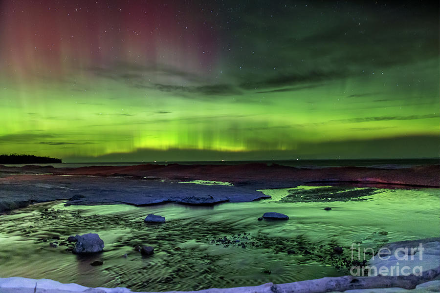Northern Lights Photograph - Northern Lights Pendells Creek -7824 by Norris Seward