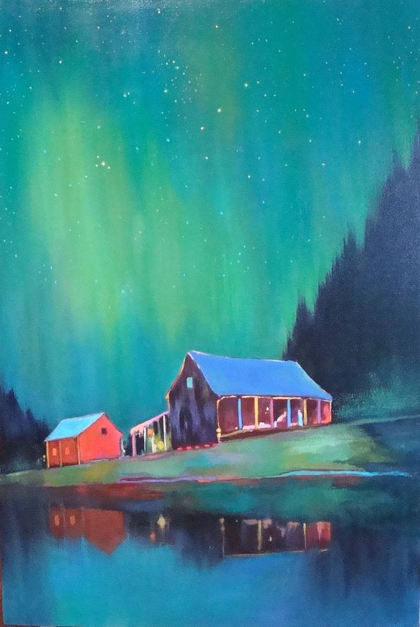 House Painting - Northern Lights by Renate Buckley