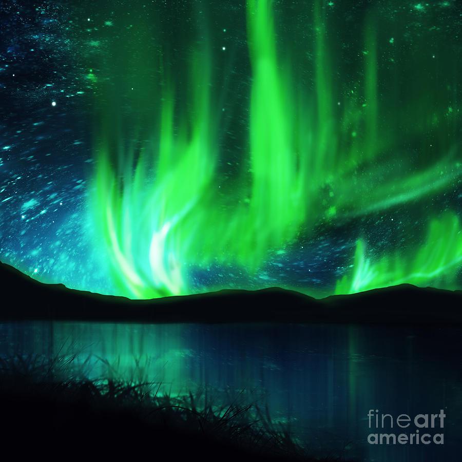 northern lights by Setsiri Silapasuwanchai