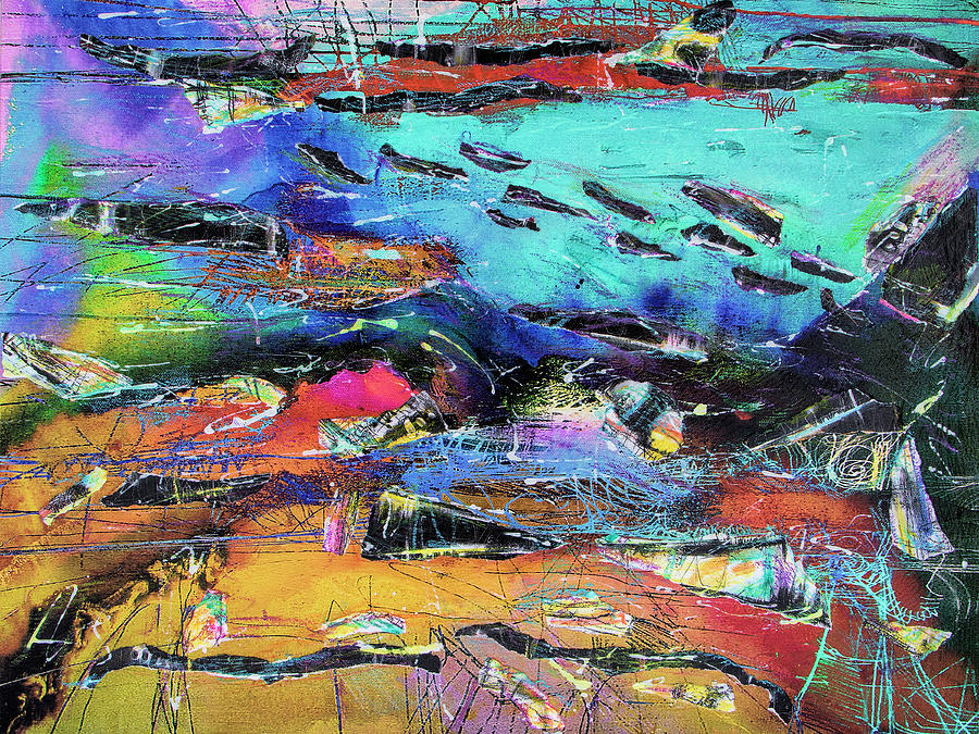 Abstract Painting - Northern Migration by Dominic Piperata