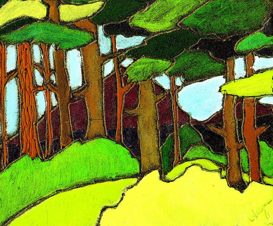 Trees Painting - Northern Pathway by Wayne Potrafka