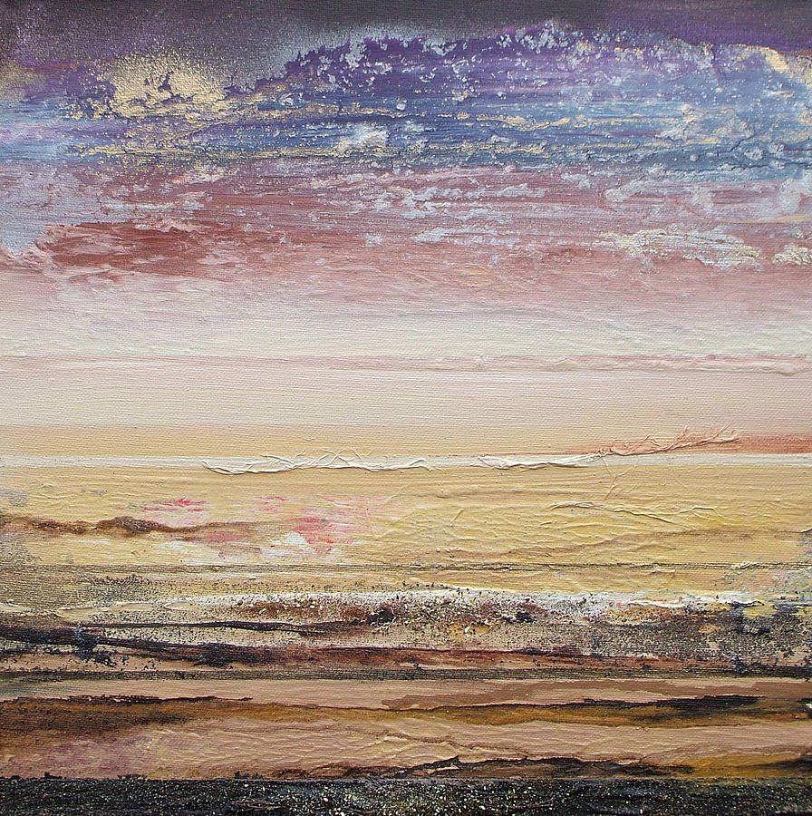 Northumberland Beach Low Tide 2009 Mixed Media by Mike   Bell