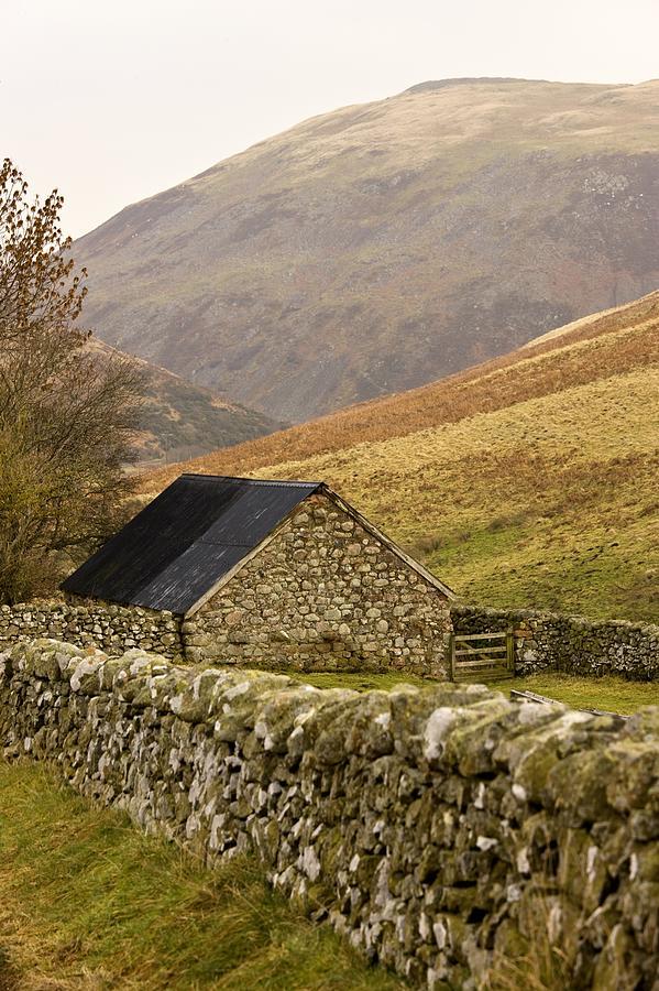 Abodes Photograph - Northumberland, England Stone House by John Short