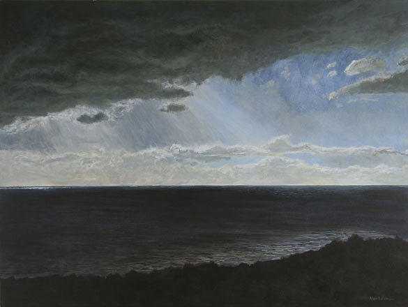 Seascape Painting - Northumberland Storm by Alan  Bateman