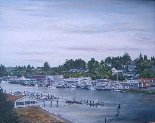 Seascape Painting - Northwest Harbor by Xavier Maumus