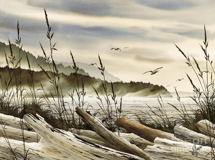 Maritime Print Painting - Northwest Shore by James Williamson