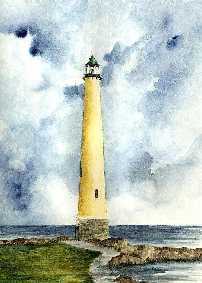 Lighthouse Painting - Northwood Lighthouse by Michael Vigliotti
