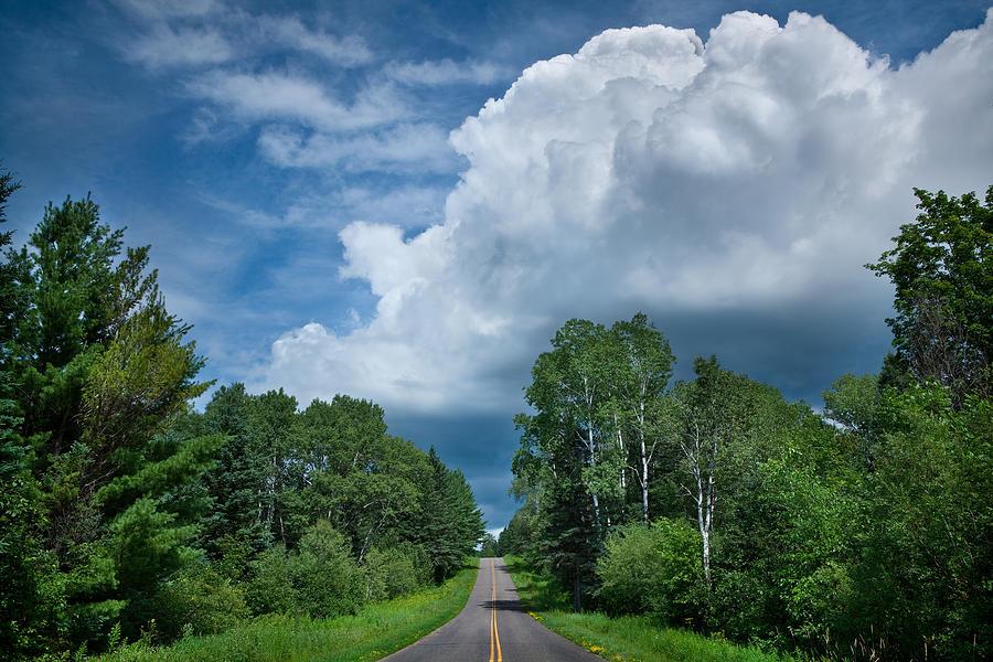 Cloud Photograph - Northwoods Road Trip by Steve Gadomski