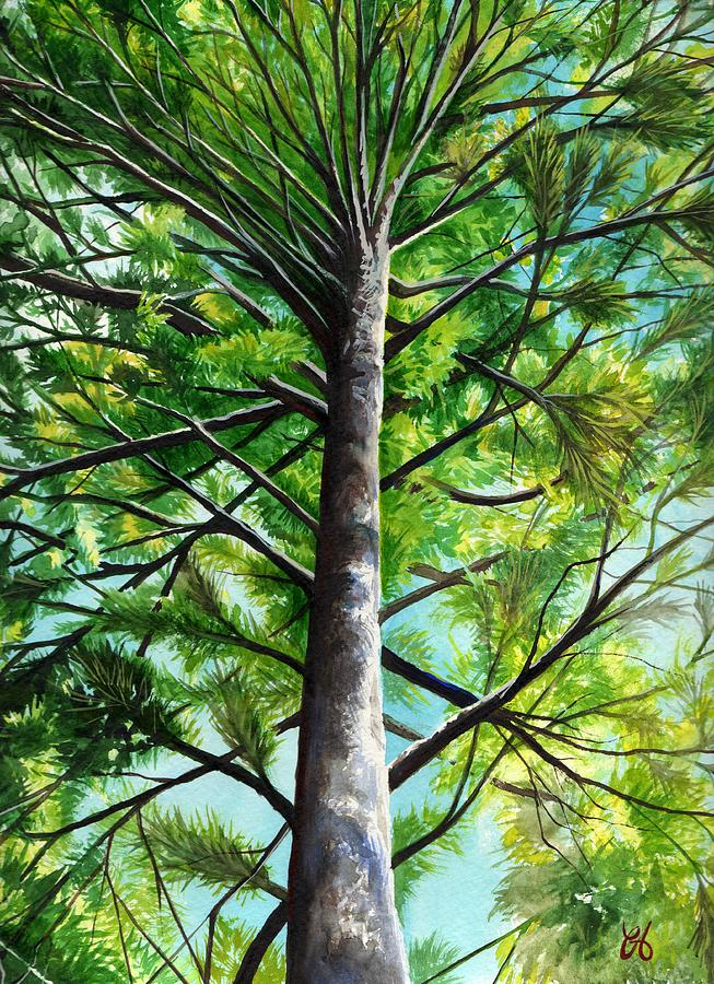 Pine Painting - Northwoods Sky by Carrie Auwaerter