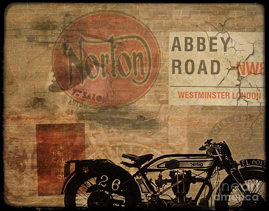 Vintage Painting - Norton by Cinema Photography