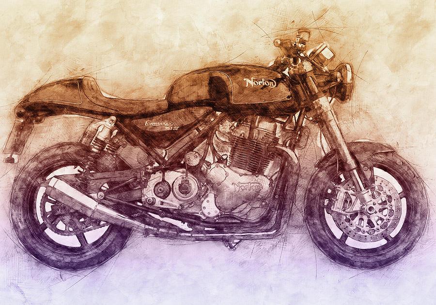 Norton Commando Mixed Media - Norton Commando 2 - Norton-villiers Motorcycle - 1967 - Motorcycle Poster - Automotive Art by Studio Grafiikka