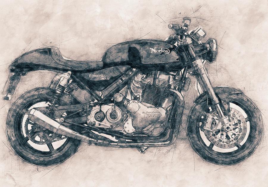 Norton Commando Mixed Media - Norton Commando - Norton-villiers Motorcycle - 1967 - Motorcycle Poster - Automotive Art by Studio Grafiikka