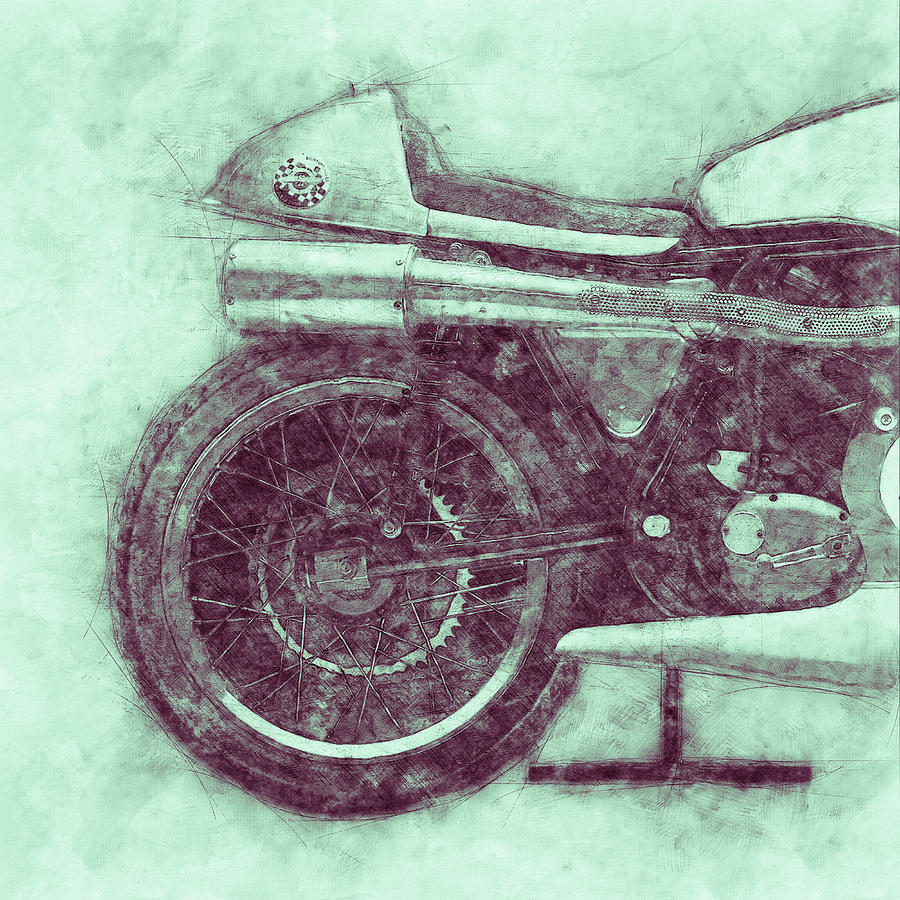 Norton Manx 3 - Norton Motorcycles - 1947 - Vintage Motorcycle Poster - Automotive Art Mixed Media