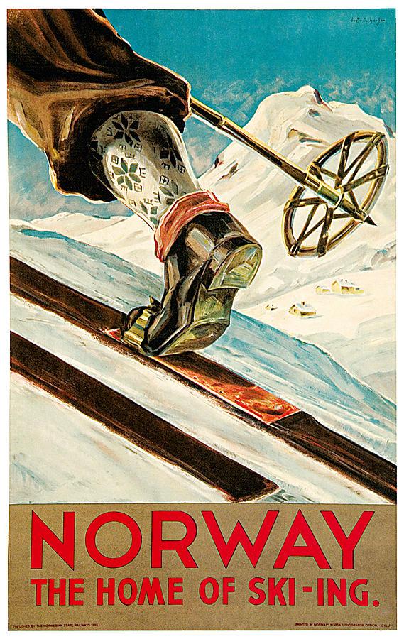 Dagtin Th Hanssen Painting - Norway by Dagtin Th Hanssen