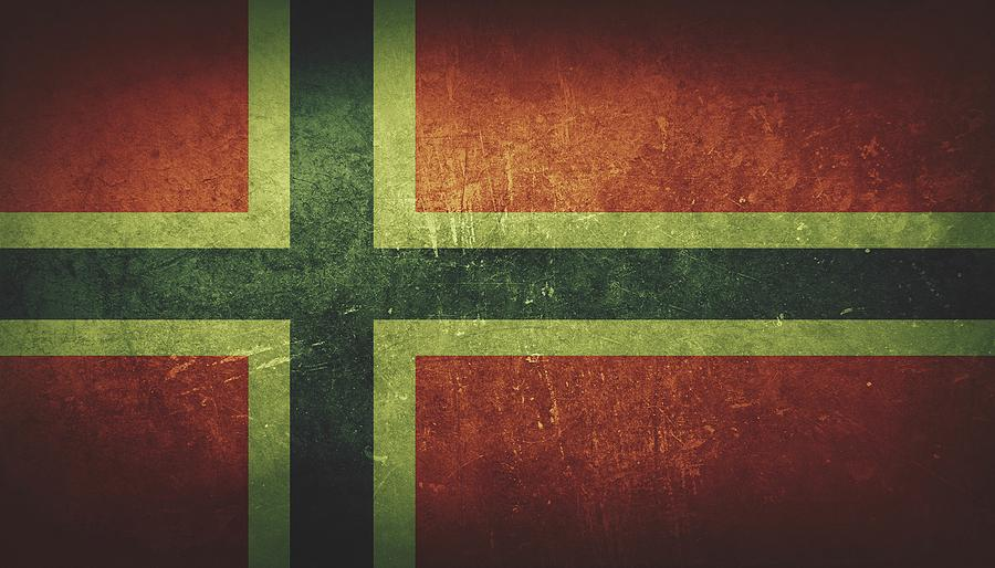 Norway Painting - Norway Distressed Flag Dehner by T Shirts R Us -