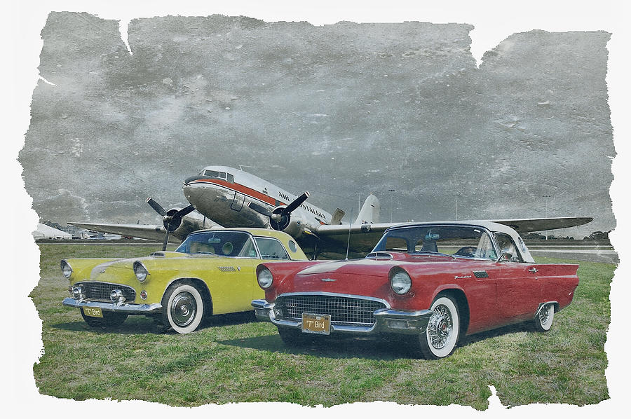 Cars Photograph - Nostalgia Airlines by Steven Agius