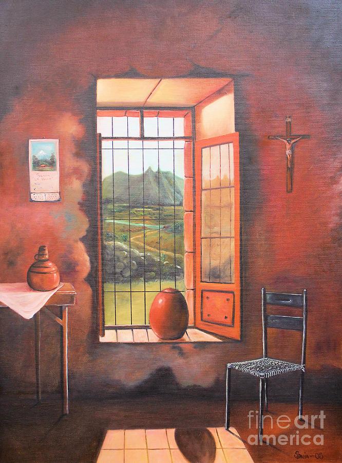 Hispanic Painting - Nostalgia by Sonia Flores Ruiz