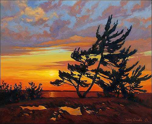 Painting Painting - Nostalgic Eve - Killbear Ontario by Dmitry Oivadis