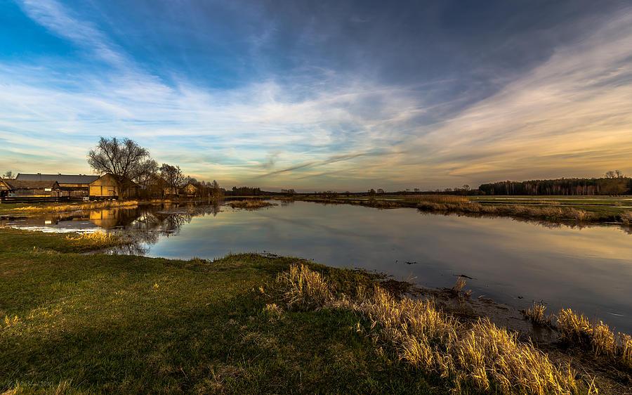 Nostalgic Landscape With Narew River Photograph