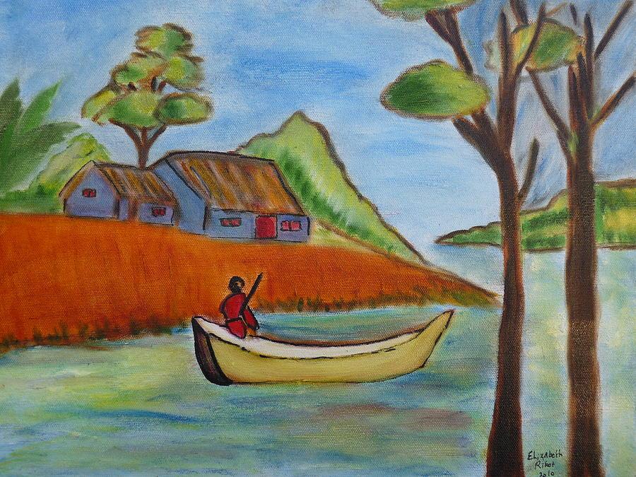 Nature Painting - Nostalgie by Elizabeth Ribet