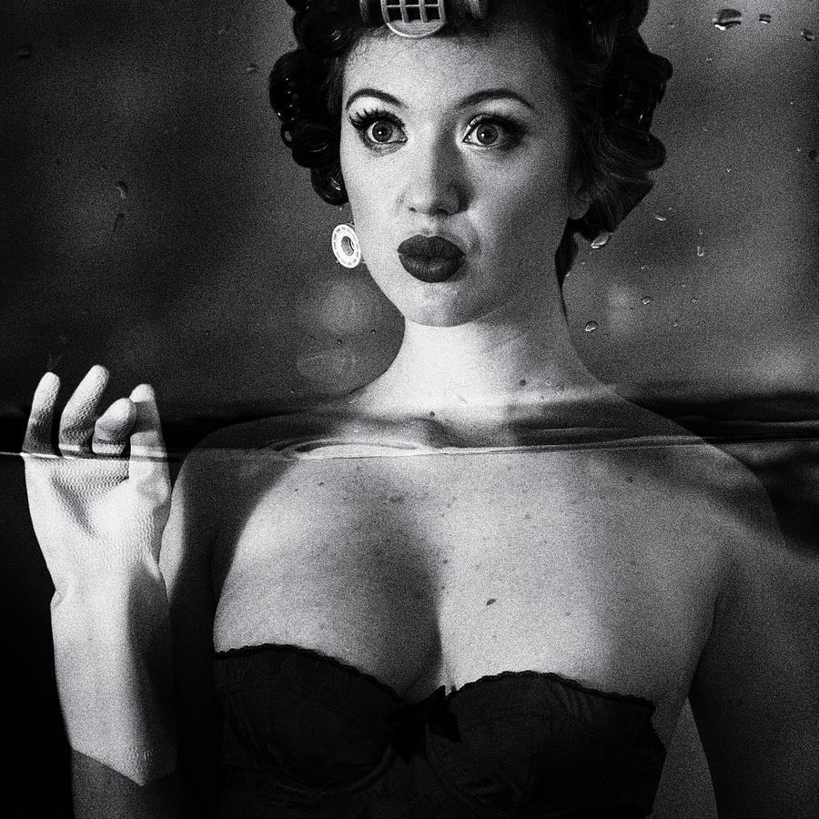 Woman Photograph - Not Drowning, Waving by Mel Brackstone