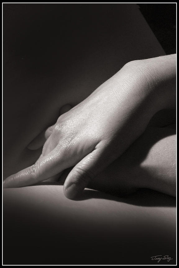 Concept B/w Hands Photograph - Not Everything Is Black And White by Tony Slez