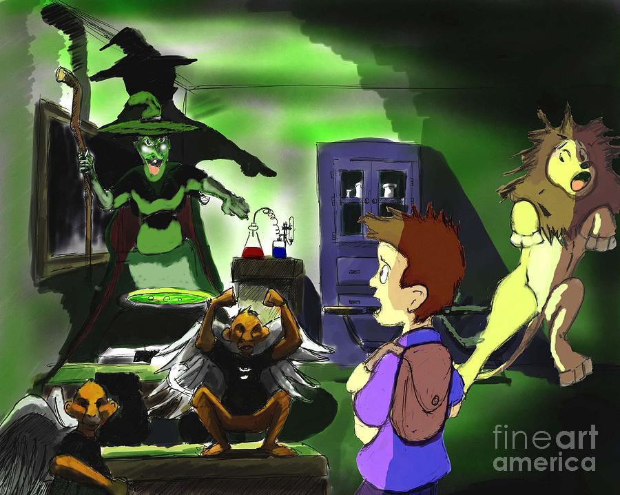 Wizard Of Oz Digital Art - Not In Kansas Anymore by Alfredo Lozano