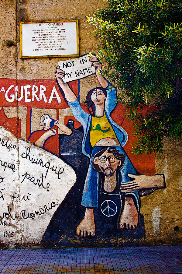 Sardinia Photograph - Not In My Name by John Daly