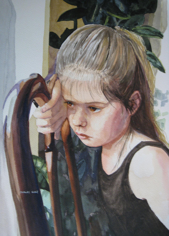 Portrait Painting - Not In The Mood For Dancing by Shirley Braithwaite Hunt