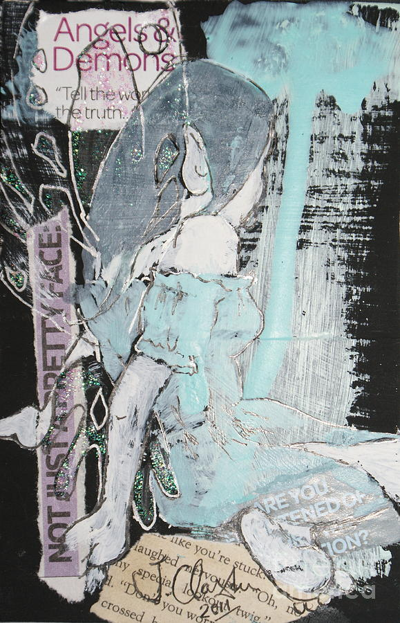 Fairy Mixed Media - Not Just A Pretty Face by Joanne Claxton