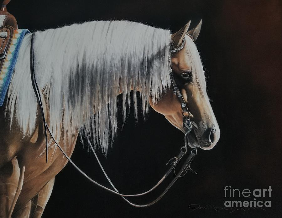 Palomino Pastel - Not Just Another Pretty Face  by Joni Beinborn