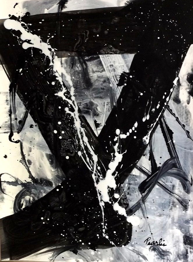 Abstract Painting - Not Just Black And White by Pearlie Taylor