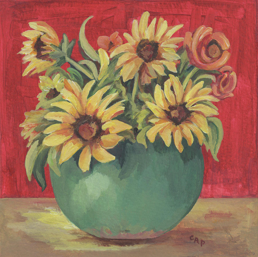 Still Life Painting - Not Just Sunflowers by Cheryl Pass