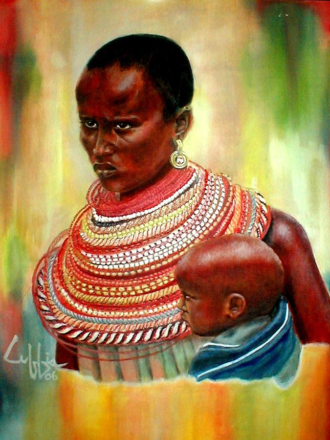 Maasai Painting - Not My Son by G Cuffia