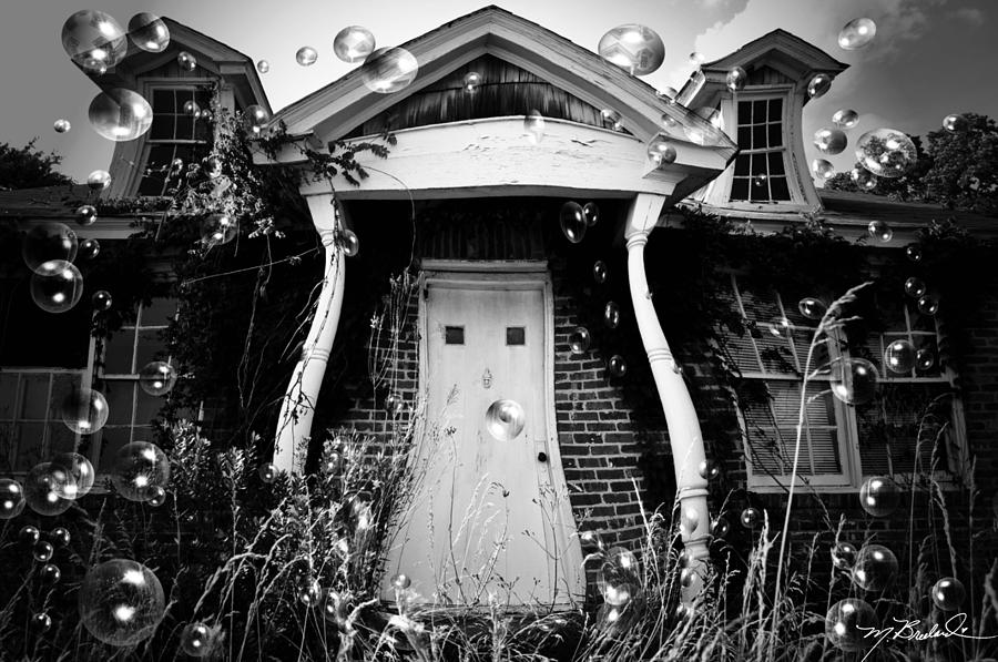 Old House Photograph - Not So Fun House by Melissa Wyatt