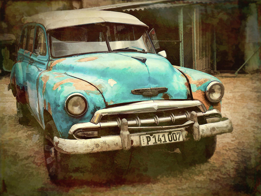 Cuba Photograph - Not Yet Running by Claude LeTien