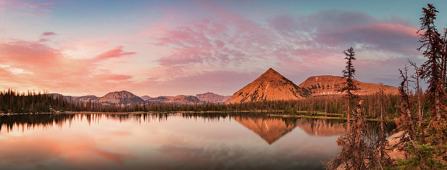 Utah Photograph - Notch Lake Panorama by Johnny Adolphson
