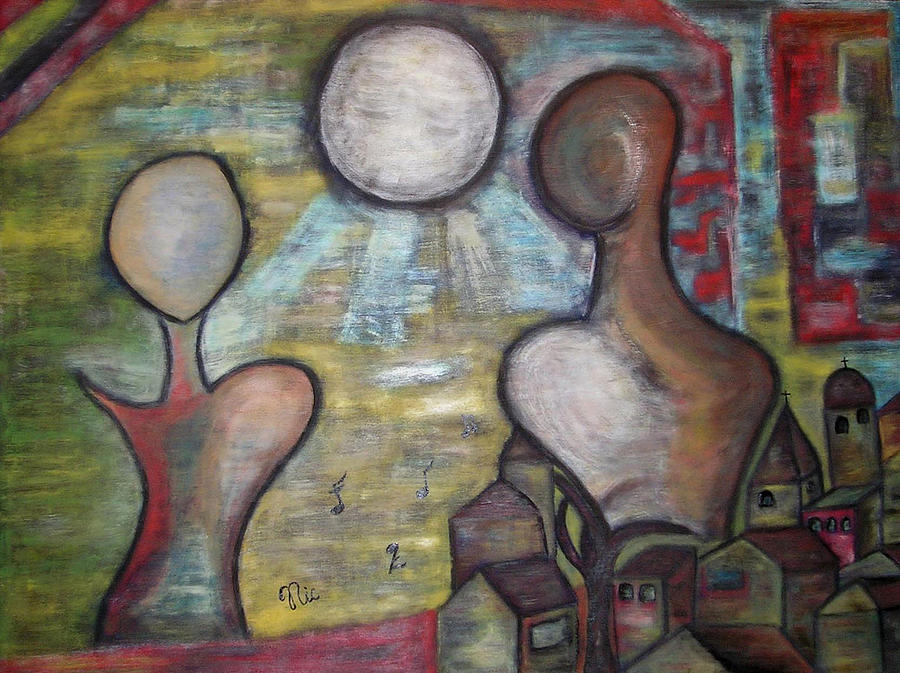 Dreamy Painting - Notevolmenteluna by Nic N