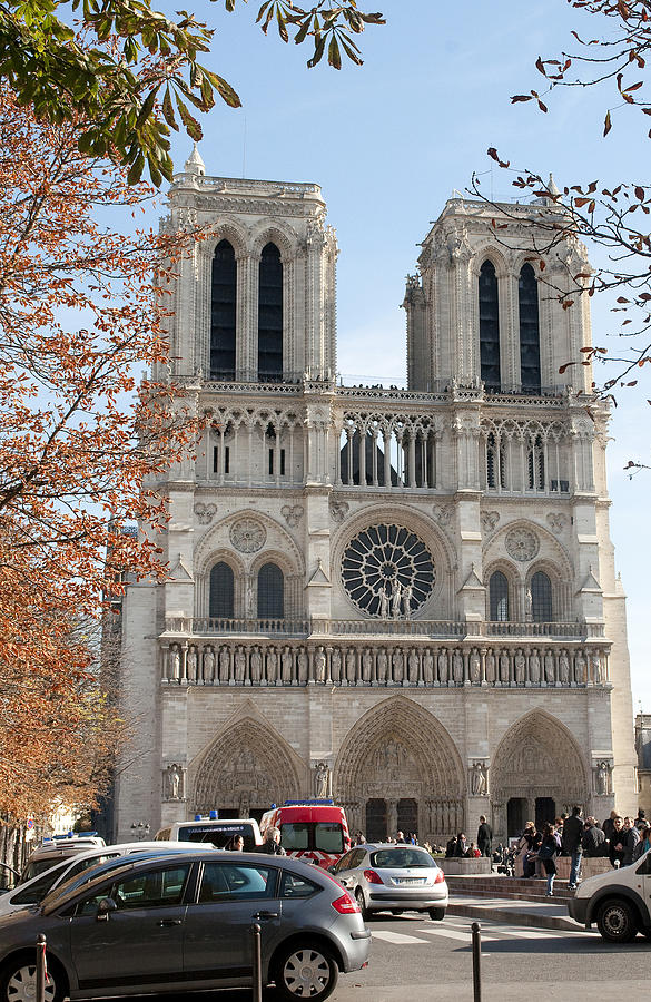 Notre Dame Cathedral Photograph - Notre Dame 2621 by Charles  Ridgway