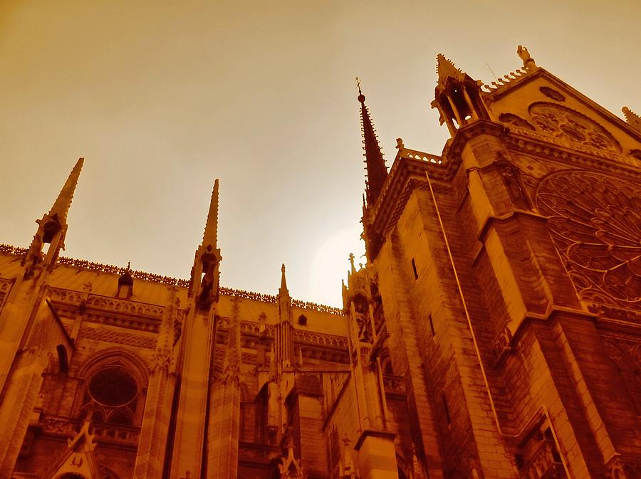 Gothic Photograph - Notre Dame At Sunset by Tony Grider