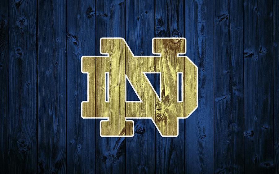 University Of Notre Dame Digital Art - Notre Dame Barn Door by Dan Sproul