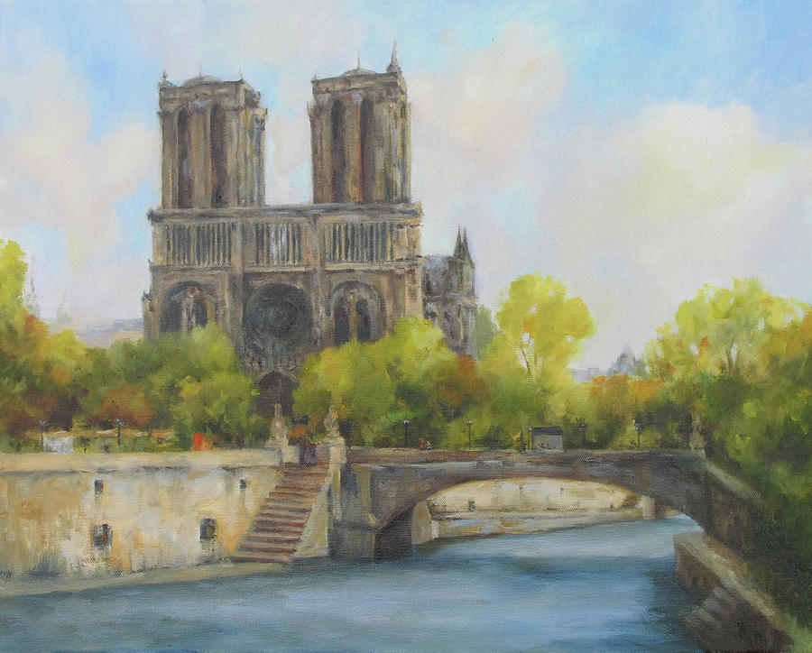 notre dame painting by barrett edwards