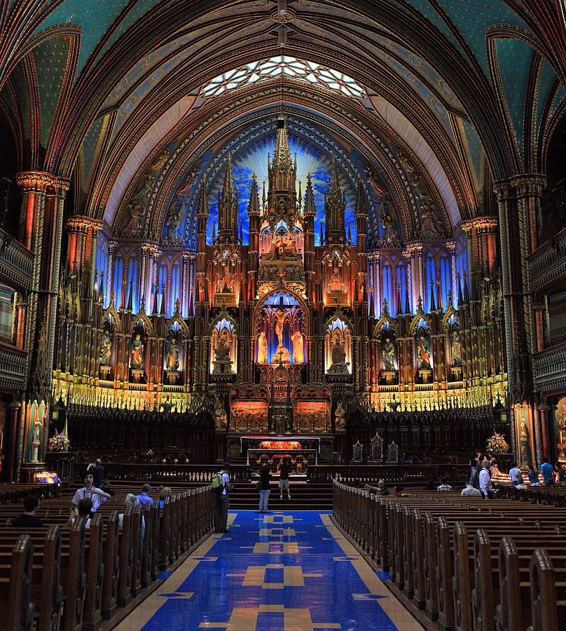 Notre Dame Photograph - Notre Dame Basilica Montreal City by Pierre Leclerc Photography