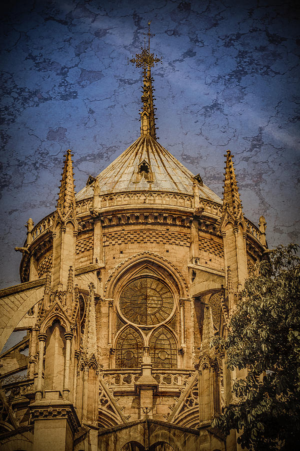 France Photograph - Paris, France - Notre-dame De Paris - Apse by Mark Forte