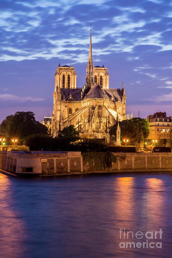 Notre Dame de Paris at Sunset by Tim Mulina