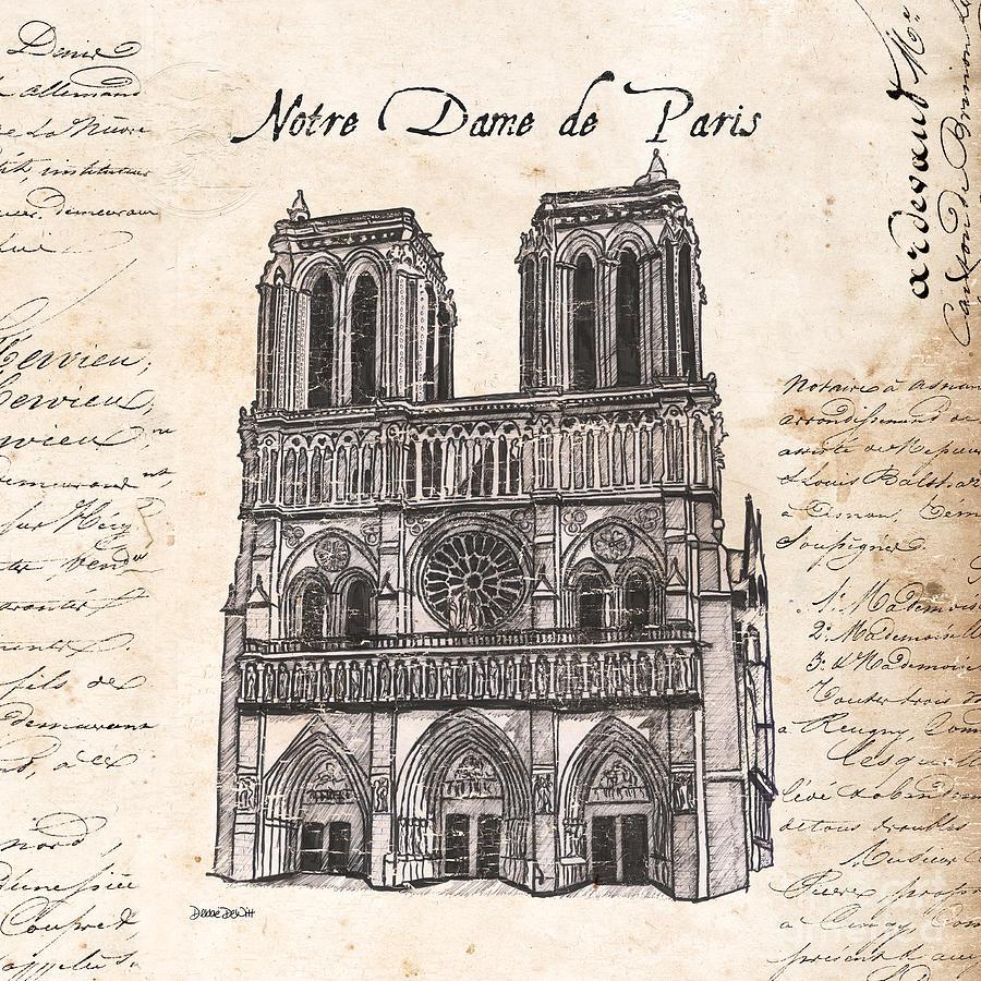 Notre Dame Painting - Notre Dame De Paris by Debbie DeWitt