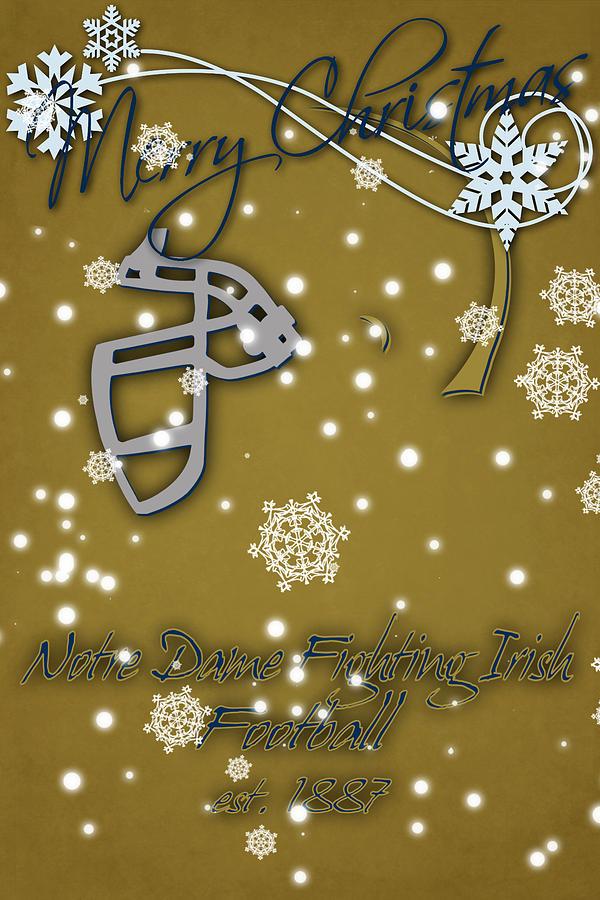 Notre Dame Fighting Irish Christmas Card 2 Photograph by Joe Hamilton